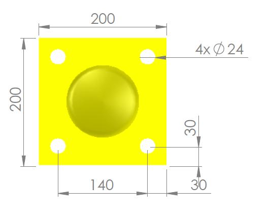 Voetplaat 114 geel
