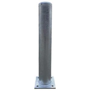 Aanrijdpaal ø 159 mm x 1000 mm met voetplaat - verzinkt