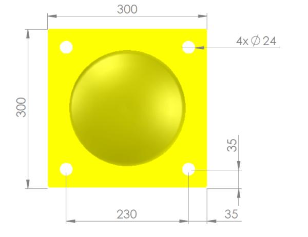 voetplaat 219 geel
