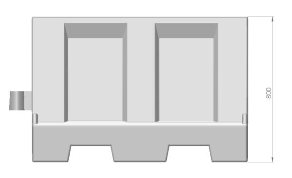 Barrier 1200-1 wit
