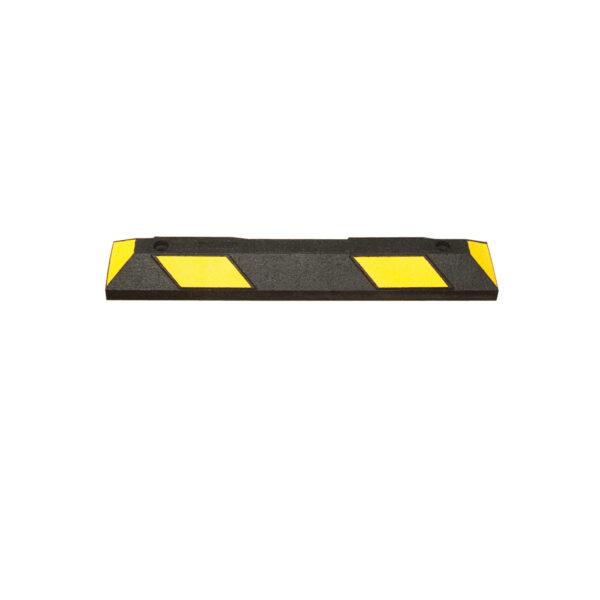 Varkensrug wielstop 900 mm geel-zwart