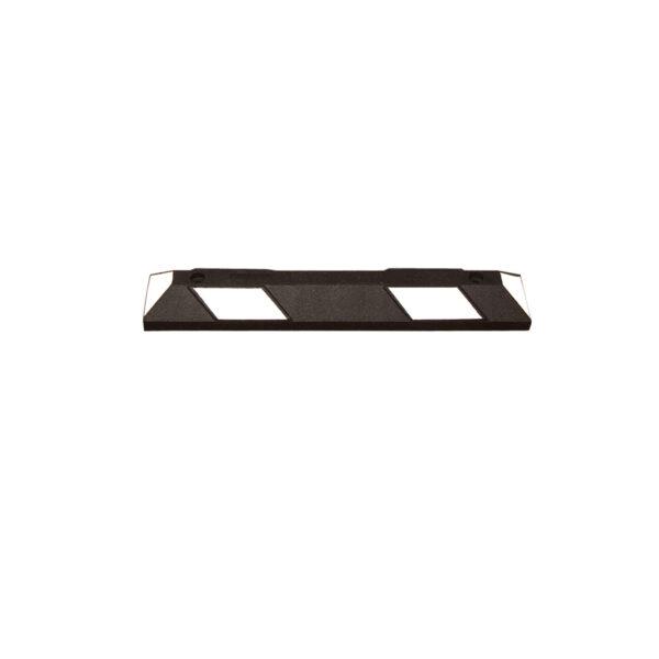 Varkensrug wielstop 900 mm wit-zwart