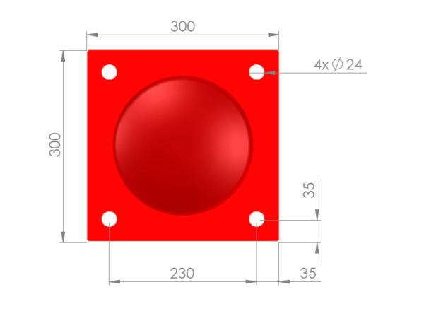 Voetplaat 219 rood