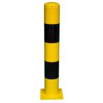 1593-2 Beschermpaal 159×1000 geel-zwart