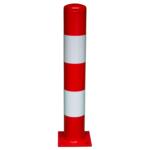 1595-2 Beschermpaal 159×1000 rood-wit