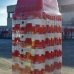 Kunststof barriers palletvoordeel