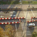 opstelling wegafzetting kunststof barriers