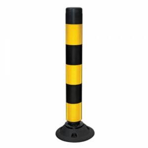 Verkeerspaal flexibel ø 100 mm geel-zwart 760 mm